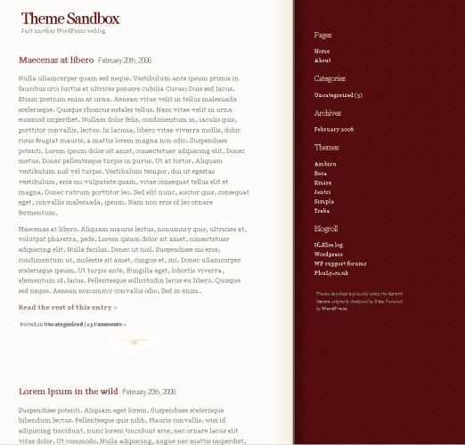 WordPress Theme: Jentri