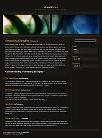 WordPress Theme: ChaoticSoul
