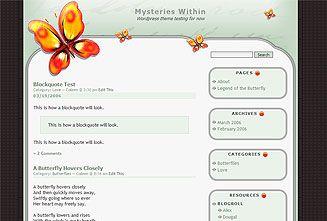 WordPress Theme: Flawless Imperfection