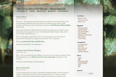 Green River WordPress Theme