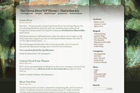 WordPress Theme: Green River