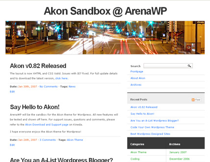 WordPress Theme: Akon