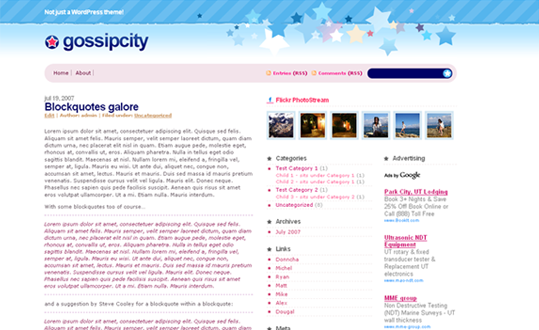 WordPress Theme – Gossip City