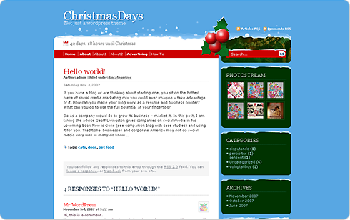 WordPress Theme: Christmas Days