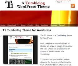 T1 Tumbletheme for WordPress