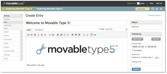 "Six Apart Introduces Movable Type 5. ""Borrows"" WordPress Dashboard Design"