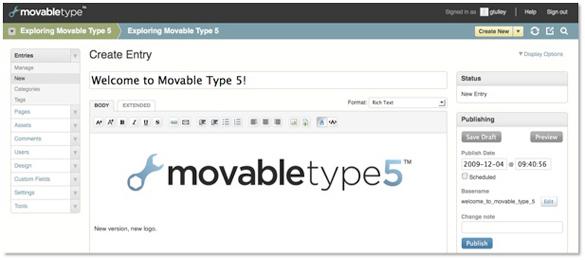 "Six Apart Introduces Movable Type 5. ""Borrows"" WordPress Dashboard Design"