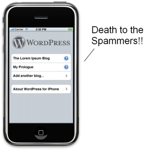 WordPress Updates iPhone App (Makes A Million Spammers Cry)