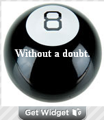 Magic 8 Ball and More Cool Blog Widgets