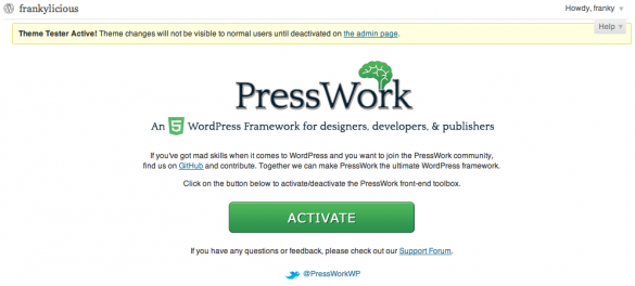 PressWork Double Activition Procedure
