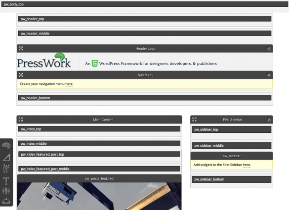 PressWork Front-end Editor Options Activated