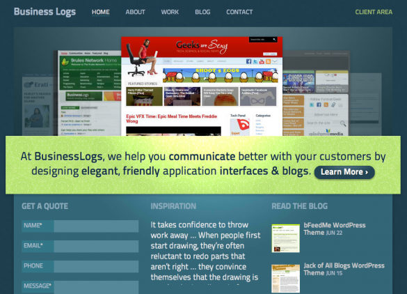 BusinessLogs, WordPress Web Design