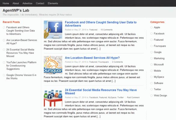 WordPress Google+ Theme by Hacktrix