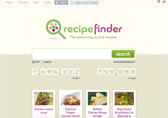 Recipe finder a new recipe search engine to look out for bloggingpro recipe finder forumfinder Choice Image