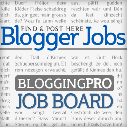 Blogging Pro Job Board Highlights (October 17-21)