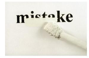 Blog Mistake