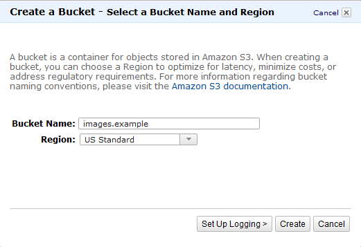 Bucket Setup Amazon S3