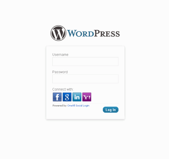 Wordpress Login - Social Buttons