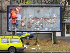 Putting up a Billboard