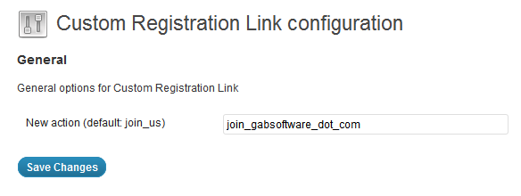 Custom Registration Link