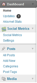 Social Metrics Dashboard