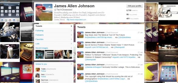 Twitter Background Using InstaBG