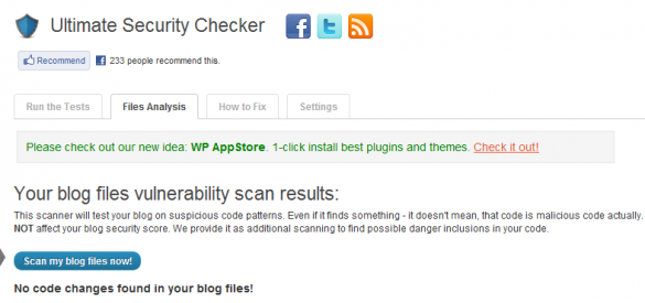 Ultimate Security Checker Files Analysis