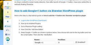 Sharebar for WordPress