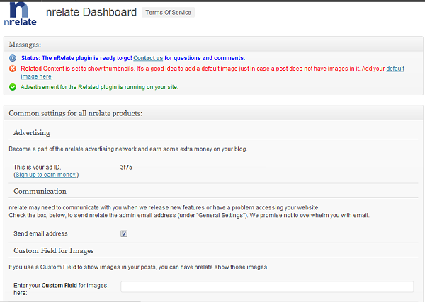 nRelate Dashboard