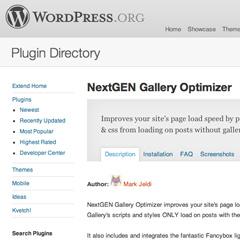 NextGen Gallery Optimizer for Wordpress