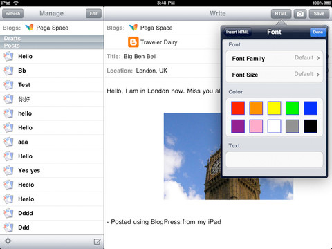 5 Apps for Blogging from Your iPad