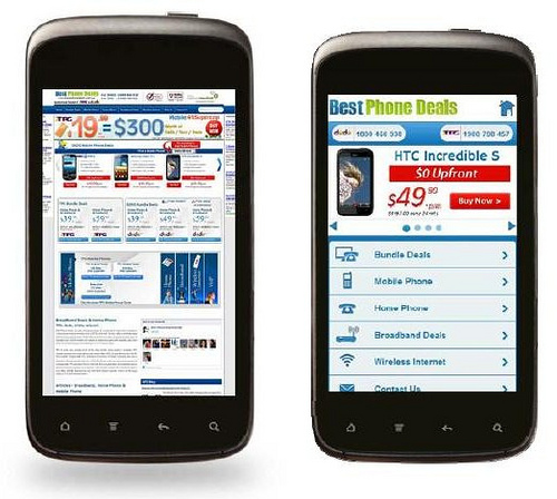 mobile version of your site