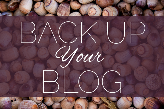 5 Solutions For Backing Up Your Blog