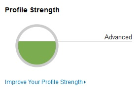 LinkedIn's profile strength indicator - Advanced