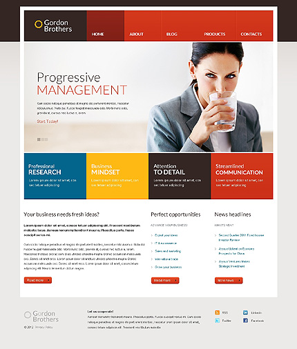 Top 30 responsive wordpress templates for your business 40349 wp b accmission Image collections