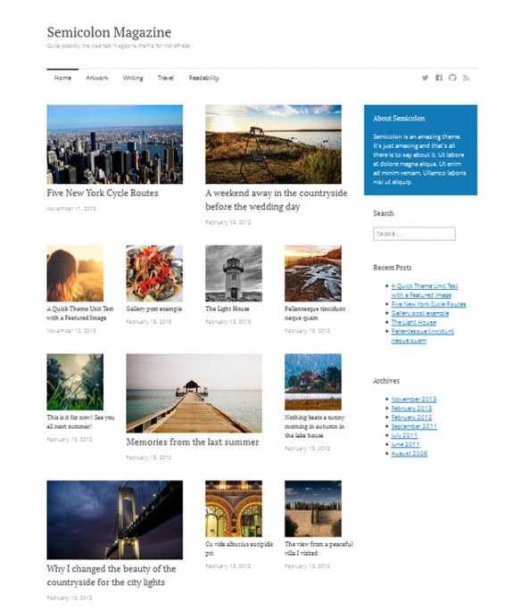 WordPress themes for 2014