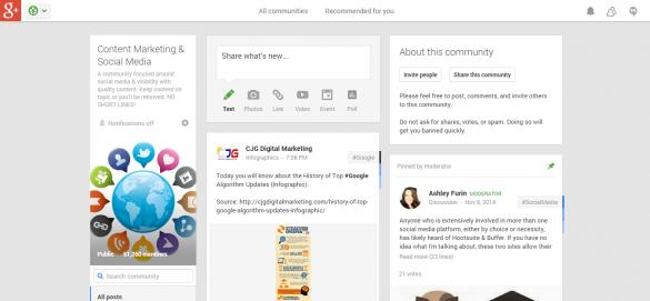 Content Marketing   Social Media   Community   Google