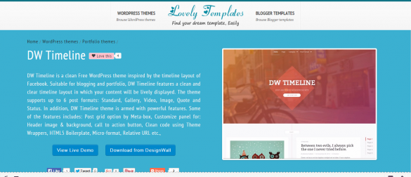 DW Timeline WordPress Theme   Lovely Templates