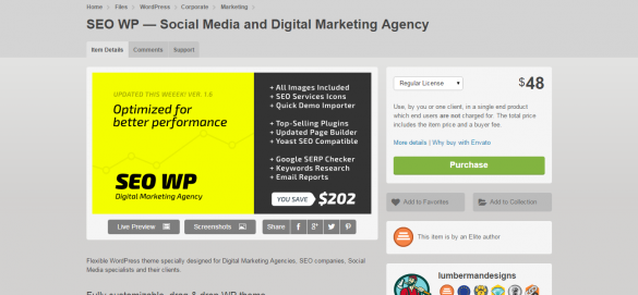 WordPress   SEO WP — Social Media and Digital Marketing Agency   ThemeForest