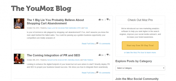 YouMoz   A User Generated Search Industry Blog   Moz