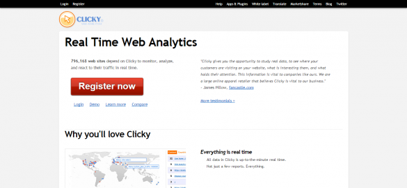 Web Analytics in Real Time   Clicky