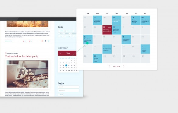Exposure Theme Events Calendar
