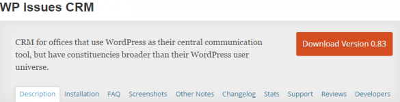 WordPress › WP Issues CRM « WordPress Plugins