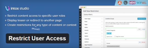 WordPress › Restrict User Access « WordPress Plugins