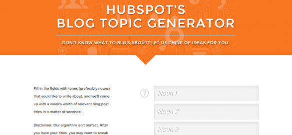 HubSpot s Blog Topic Generator