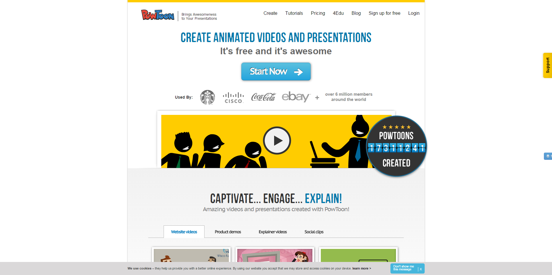PowToon free business presentation software animated video maker and PowerPoint alternative