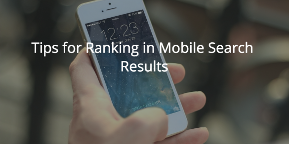tips for ranking in mobile search results