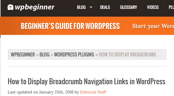 improve site navigation