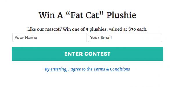 run a blog contest