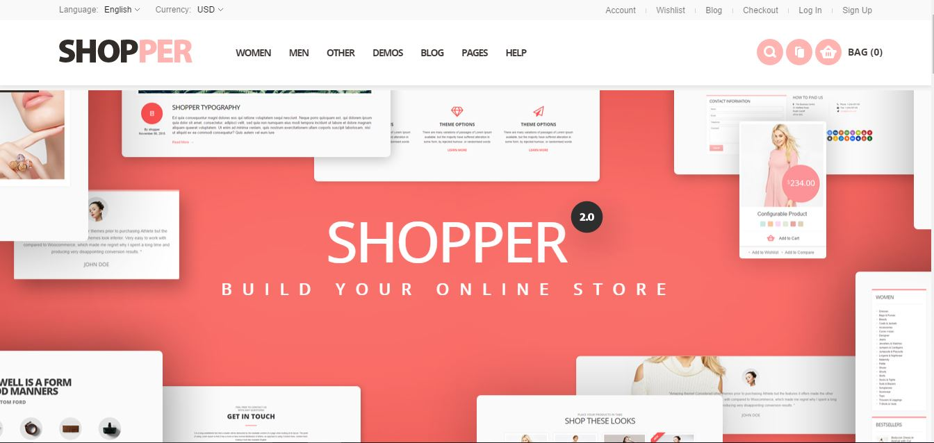 Shopper theme for Magento